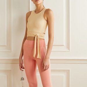 Live The Process Ballet Cropped Wrap Top